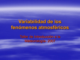 Variabilidad de los fenómenos atmosféricos