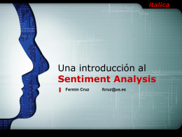 Una introducción al Sentiment Analysis