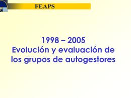 1998_2005 Evol y evaluación grupos autogest