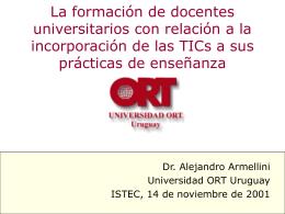 Alejandro Armellini, Universidad ORT