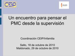 Un encuentro para pensar el pmc desde la supervisión