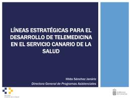 Líneas estratégicas para el desarrollo de Telemedicina en el