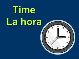 Time La hora