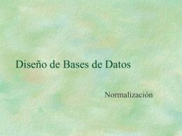 Unidad 3 - Normalizacion - BasedeDatos-LSI-LCC