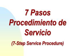 7 Pasos Proc de Servicio