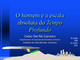 O homem e a escala absoluta do Tempo - Geo