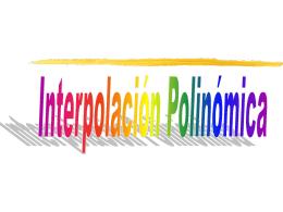 PRÁCTICA 7: Interpolación Polinómica