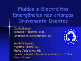 Emergências Electrolíticas e de Fluidos na Criança Gravemente