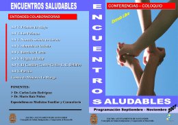 Folleto Encuentros Saludables ( PPT