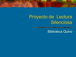 Proyecto de Lectura Silenciosa Alumno/a