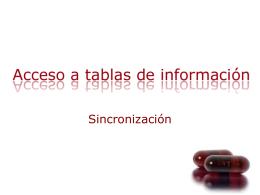 Acceso a Tablas de Informacion