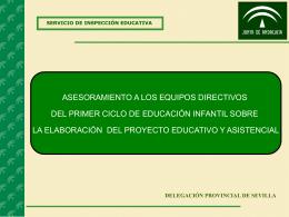 Elaborar el proyecto educativo y asistencial.