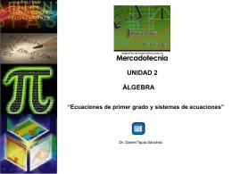 Ecuaciones de primer grado y sistemas de ecuaciones