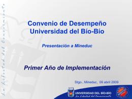 Convenio de Desempeño Universidad del Bío