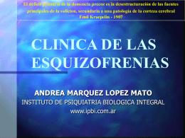 Esquizofrenia Clínica - Instituto de Psiquiatría Biológica Integral