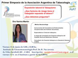 Primer Simposio de la Asociación Argentina de Tabacologia