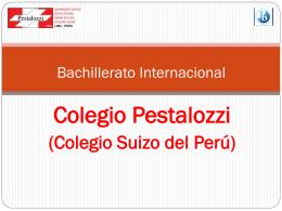 Bachillerato: primer año - Colegio Suizo Pestalozzi