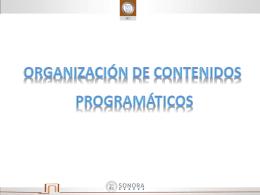 18.- organización de contenidos
