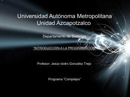 07-Complejos - Universidad Autónoma Metropolitana