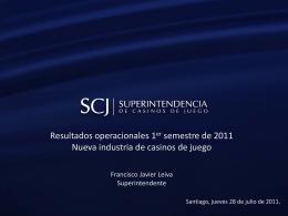 Resultados Operacionales Primer Semestre de 2011 Nueva