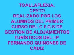 toallaflexia: cesto realizado por los alumnos del primer curso del