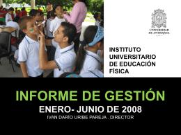 Informe primer semestre 2008