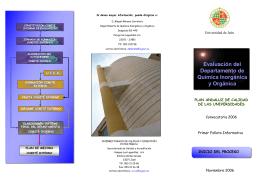Primer folleto informativo del proceso de