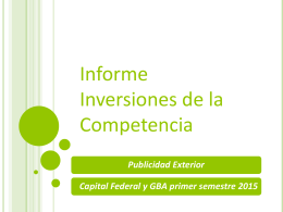Capital Federal y GBA Primer semestre 2015