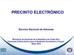 PRESINTO ELECTRONICO PARA LAS ADUANAS.pps