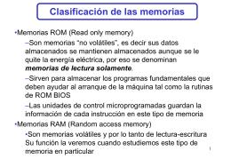 Clasificación de las memorias ROM