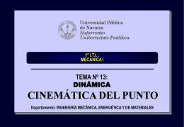 tema_13_cinematica_del_punto - Ingeniería Mecánica Aplicada
