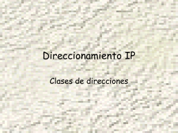 Direccionamiento IP II - Profesor Cesar Guisado