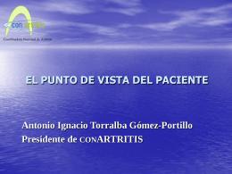 visión del paciente con artritis reumatoide