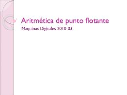 Aritmética de punto flotante