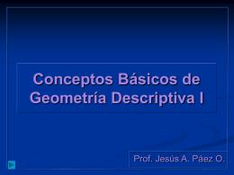 Conceptos Básicos de Geometría Descriptiva I