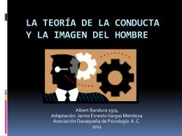La Teoría de la Conducta y la Imagen del Hombre