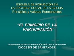 El principio de la participación - Centro Diocesano de Formación
