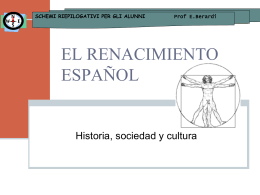 EL RENACIMIENTO ESPAÑOL - Prof.ssa Berardi Eugenia