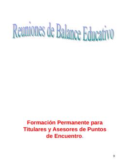 Reuniones de balance educativo