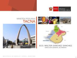 Dirección General de Minería - Tacna