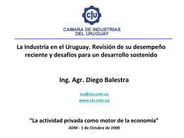 Presentación Balestra - Cámara de Industrias del Uruguay