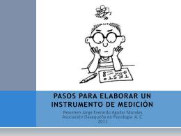 Pasos para elaborar instrumentos de medición. México