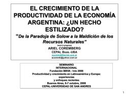 Paradoja de Solow - Universidad de San Andrés