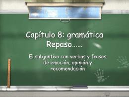 Capítulo 12: gramática I