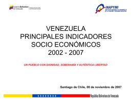 VENEZUELA INDICADORES SOCIO ECONÓMICOS