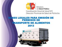 transporte - Ministerio de Salud Pública