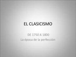 EL CLASICISMO - IES La Bureba