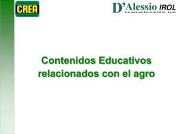 Contenidos Educativos relacionados con el agro