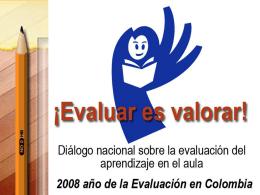 El a,b,c de la evaluación - Plan Nacional Decenal de Educación