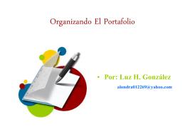 Organizando El Portafolio Por Luz H. González